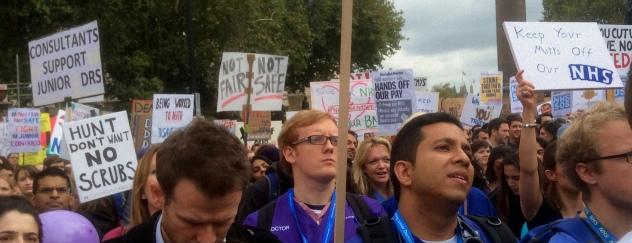 Protesters Listen to Heidi Alexander